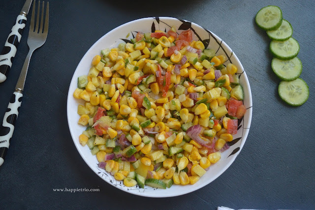 Sweet Corn Salad | Sweet Corn Raw Mango Salad