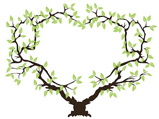 Clipart Image of a Heart Shaped Tree
