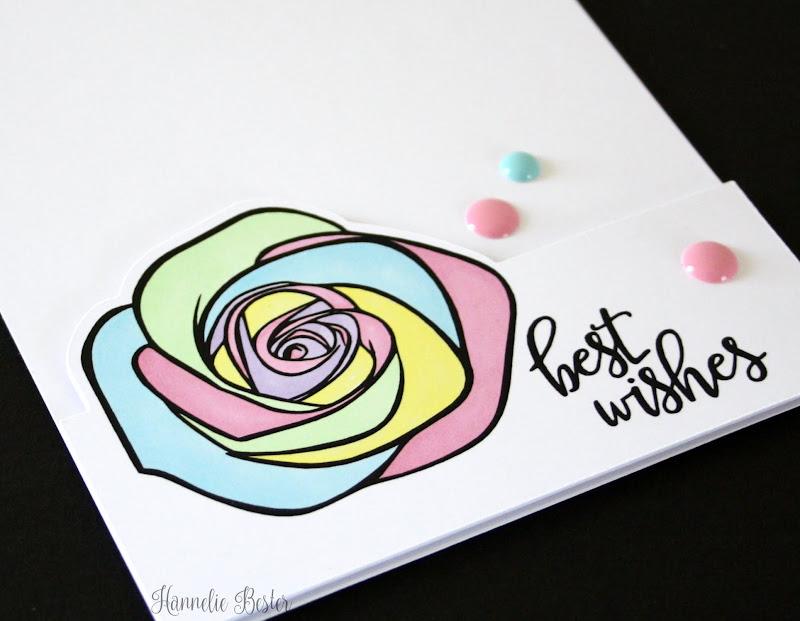 pastel rainbow rose