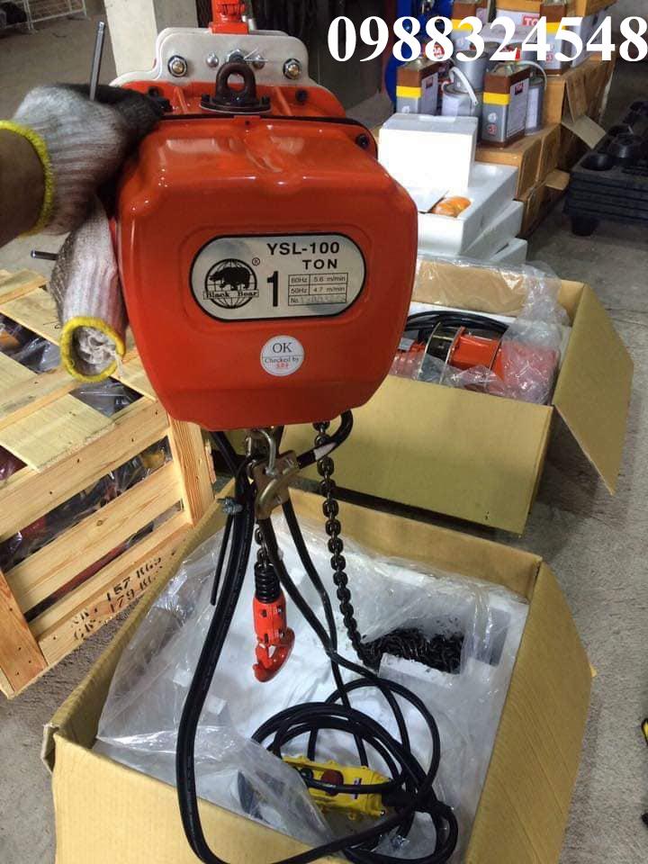 Pa lăng điện xích Black Bear YSL-100 1 tấn