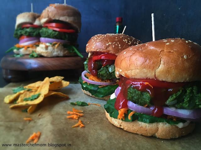 Spinach Shawarma Burger | Vegan Burger