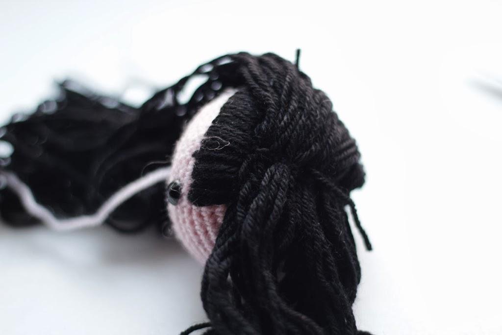 Amigurumi Hair Tutorial : Amigurumi free pattern kokeshi kaguya hime doll the sun and the