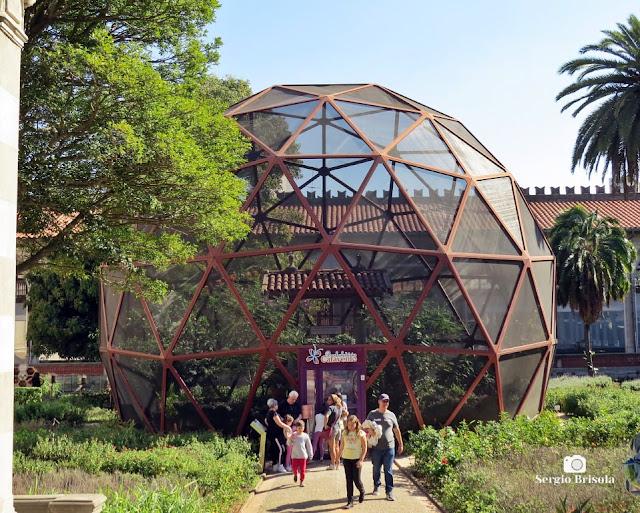 Vista do Borboletário do Museu Catavento - Brás - São Paulo