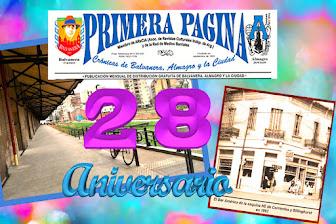 LOS 28 AÑOS DE PRIMERA PÁGINA