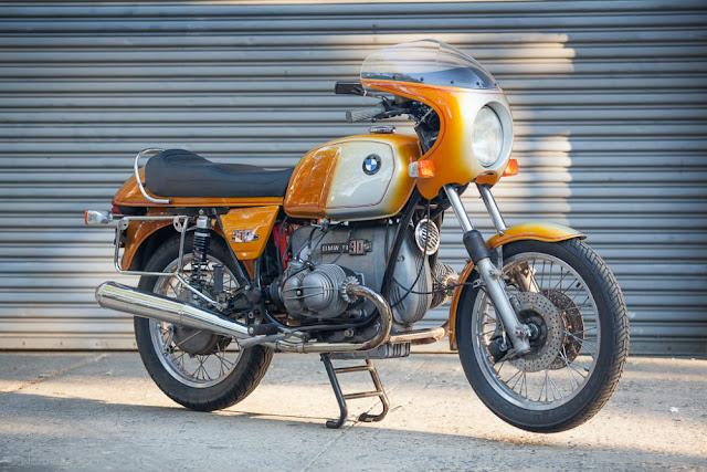 BMW R90S 1970s German classic motorbike