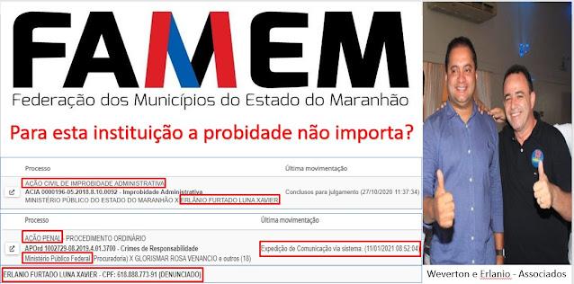 BOMBA!!! FAMEM registra candidato acusado, indiciado e processado por diversos crimes na Justiça Federal e na Justiça Estadual no Maranhão