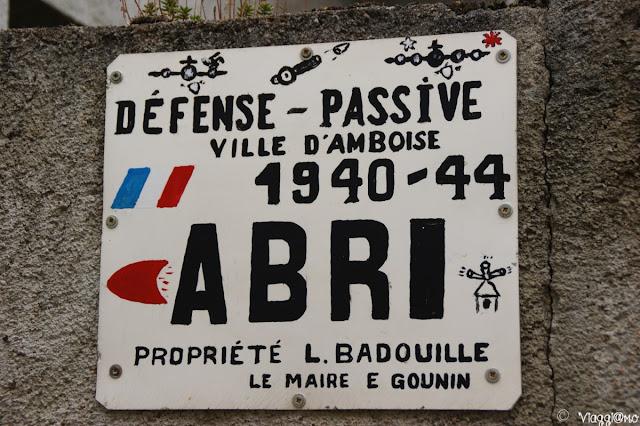 Insegna della secona guerra Mondiale ad Amboise