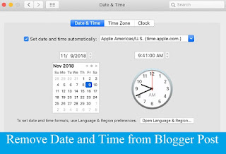 How to Remove Date and Time from Blogger Post with Pictures