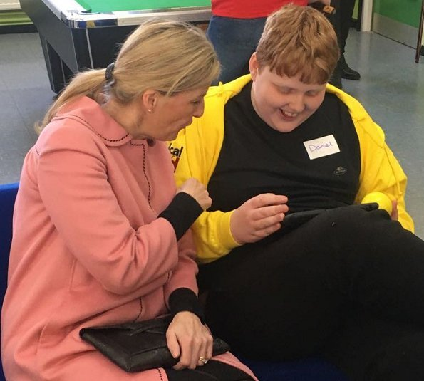 the Countess, as Patron of Mencap Charity, visited Swansea and District Mencap