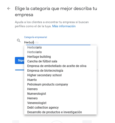 Categoria Google Business
