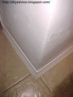 This moisture resistant bathroom corner is finished