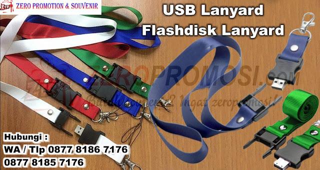 souvenir usb lanyard, Flashdisk Berbentuk Tali ID Card, flashdisk tali, USB Promosi