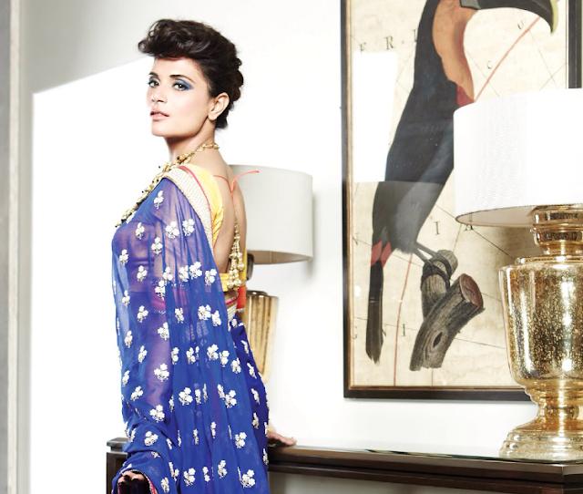 Bollywood Actress Richa Chadda Stills In Saree Actress Trend
