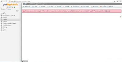 import database yang melebihi limit phpmyadmin