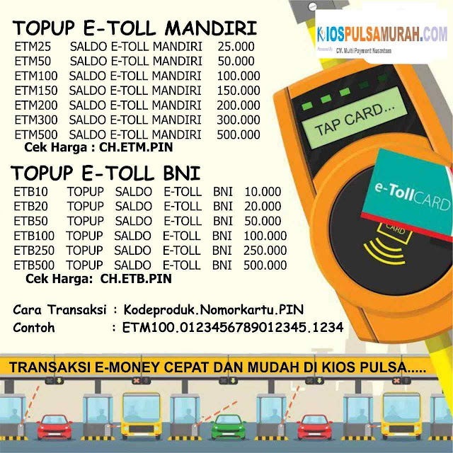 Daftar Harga Saldo E-Money Murah Kios Pulsa