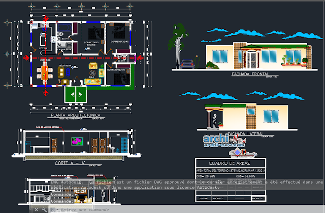 Residential project in AutoCAD