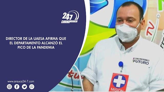 DIRECTOR DE LA UNIDAD ADMINISTRATIVA ESPECIAL DE SALUD DE ARAUCA AFIRMA QUE EL DEPARTAMENTO ALCANZÓ EL PICO DE LA PANDEMIA. LAS CIFRAS RESULTARON MENORES A LAS ESTIMADAS