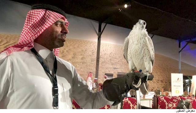 زوار معرض الصقور السعودي