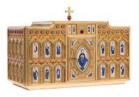 New Romanesque Tabernacle and Sanctuary Lamp by Granda Liturgical Arts