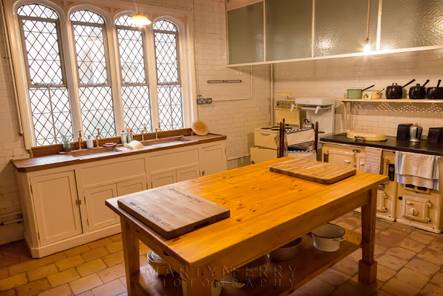 Anglesey Abbey kitchen laid out in period decoration