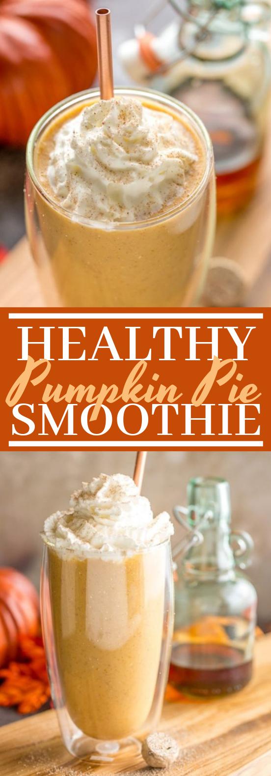 Healthy Pumpkin Pie Smoothie #drinks #fall