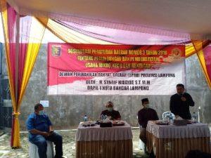 Syarif Hidayat Gelar Sosialisassi Perda Perlindungan dan Pemberdayaan UMKM