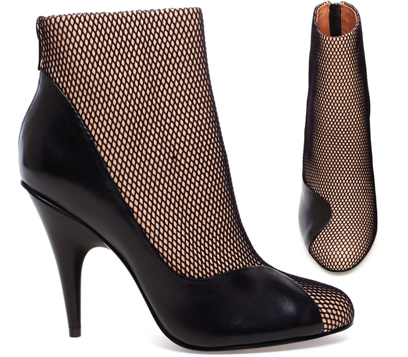 Francis Mesh and Leather Ankle Boot