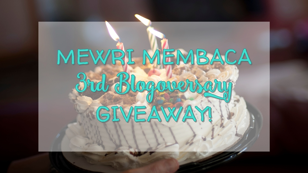 mewri membaca 3rd blogoversary giveaway