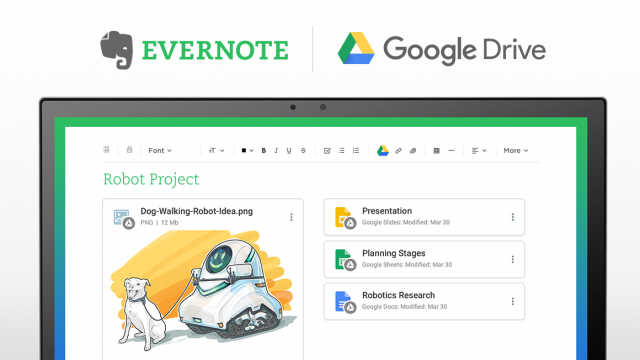 Evernote Brings Google Drive Integration on Android