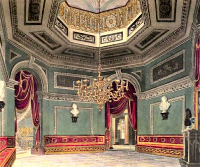 The Vestibule, Carlton House, from The History of the Royal Residences by WH Pyne (1819)
