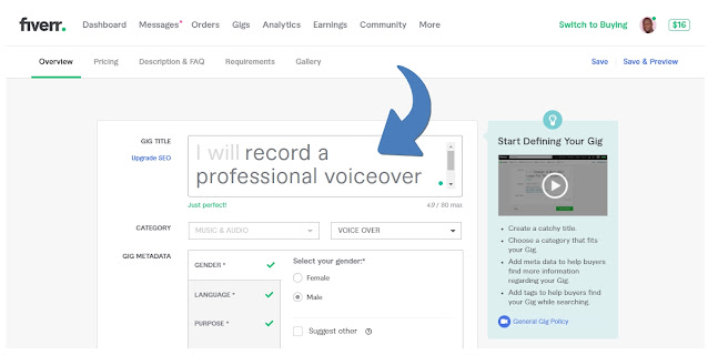 How to make money on Fiverr Voiceover