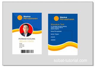 Desain ID Card Part 2 Bagian Belakang