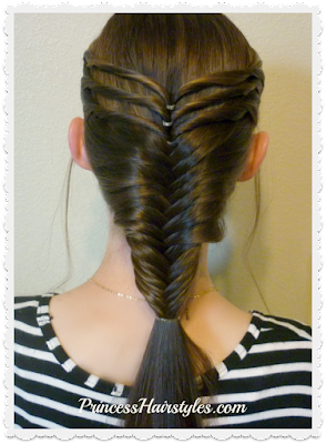 Triple twist french fishtail braid, video tutorial.