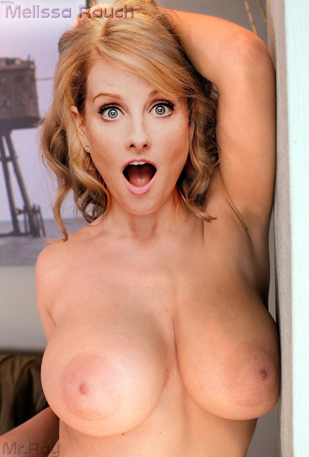 Big boobs Melissa Rauch nude tits sexy naked nipple fake porn Naked without Clothes Comedian xxx