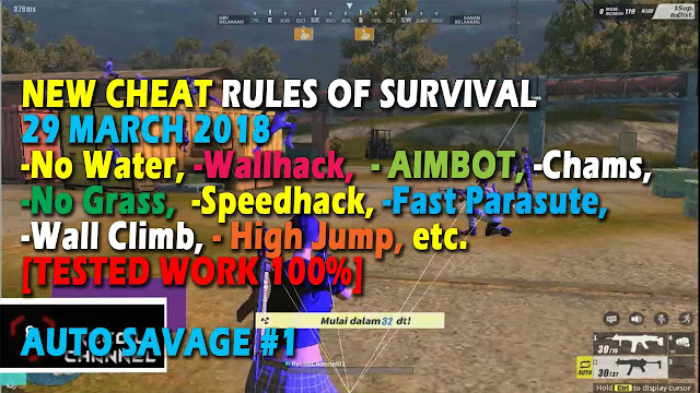 Cheat Rules of Survival Treonin 9.0 Update 29 Maret 2018