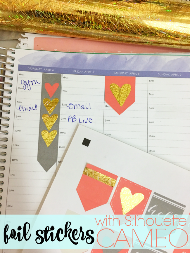 Diy foil stickers with silhouette cameo sticker tutorial