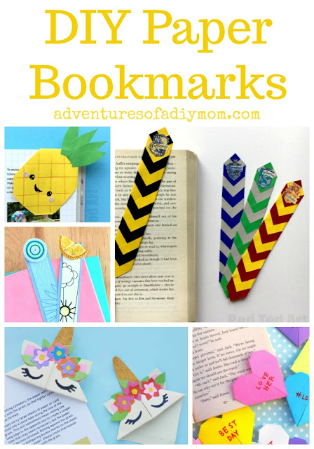 DIY Paper Bookmarks Collage