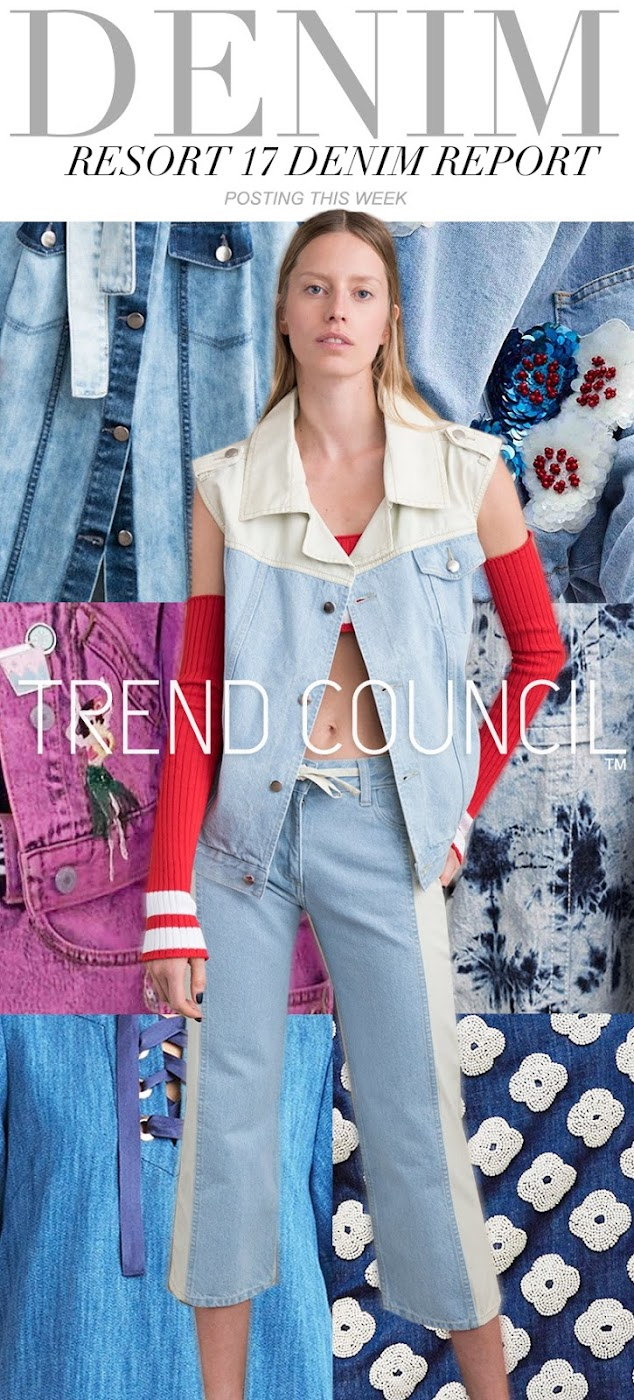 trends trend council womens and mens denim report resort 2017 fashion vignette. Black Bedroom Furniture Sets. Home Design Ideas