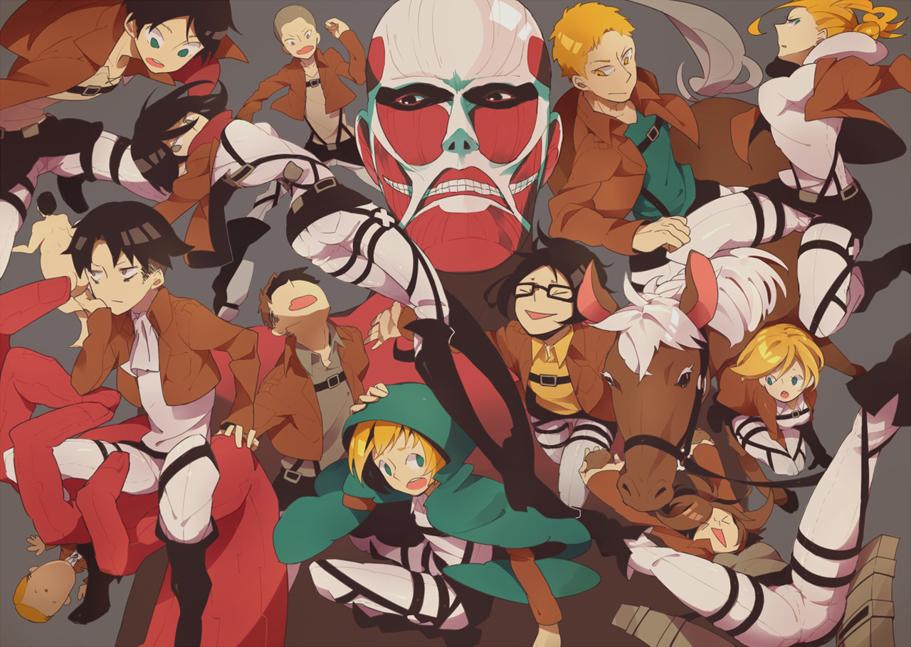 Attack On Titan Characters 1734 Hd Wallpaper