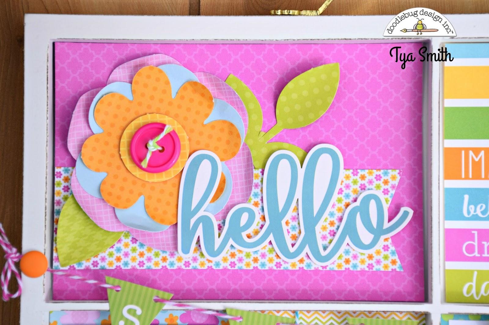 simply tya doodlebug design spring garden collection printer u0027s tray
