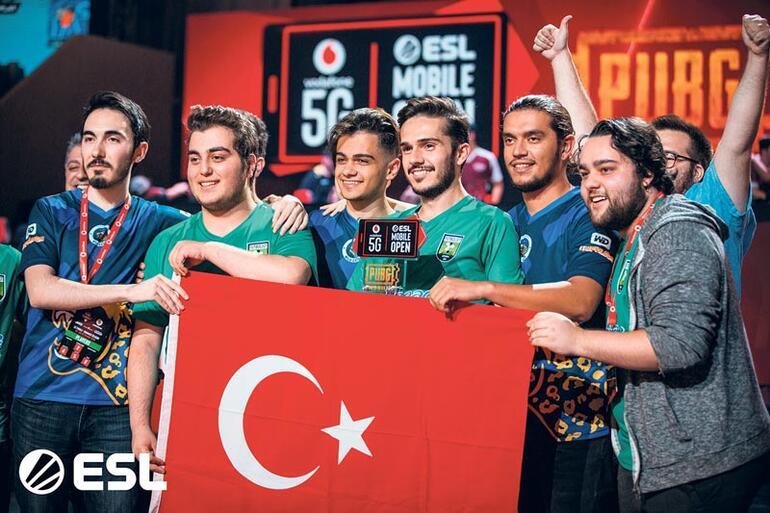 2019 ESL Open Vodafone 5G Pubg Mobile Şampiyonu Futbolist Türk Takımı