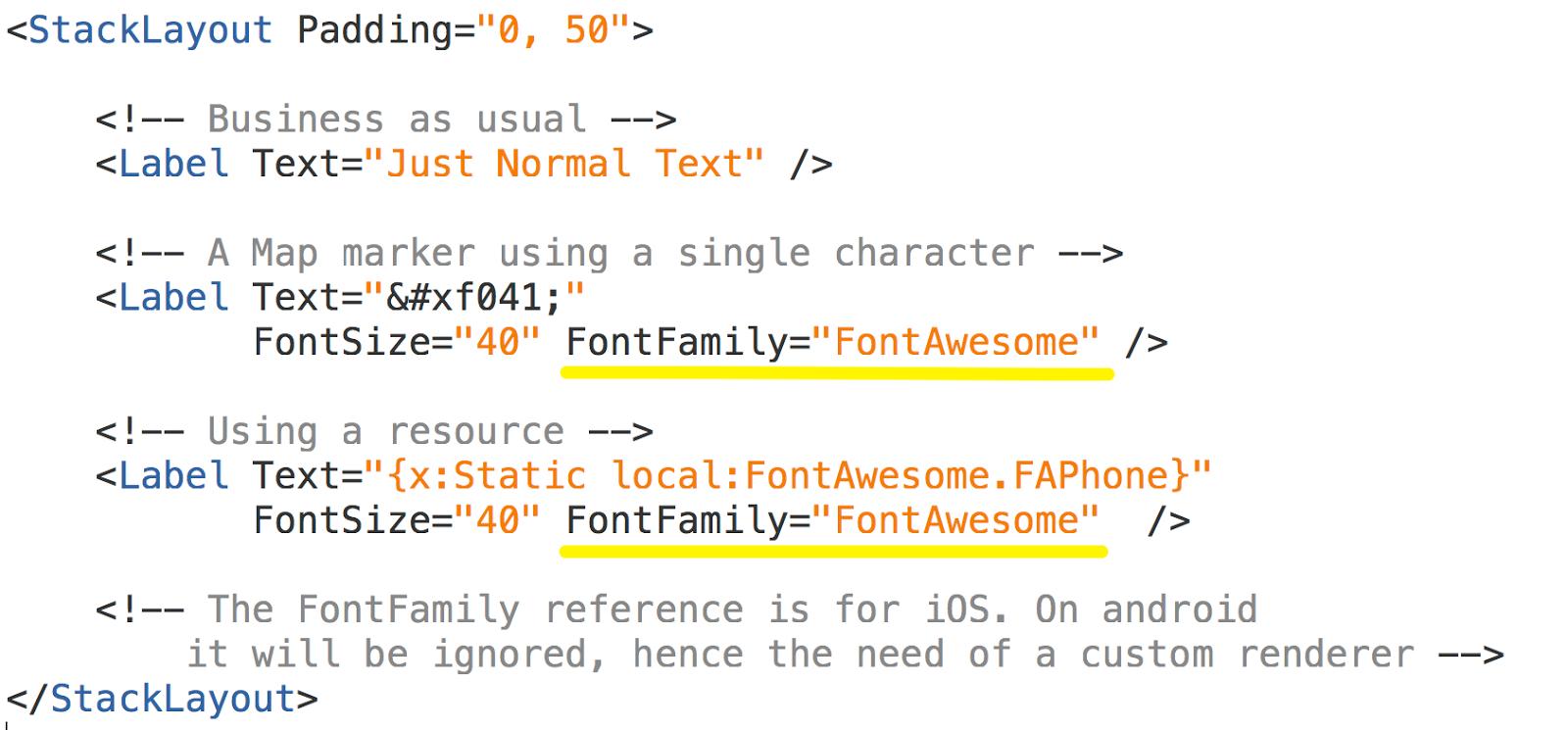 www johankarlsson net: FontAwesome using Xamarin Forms and iOS