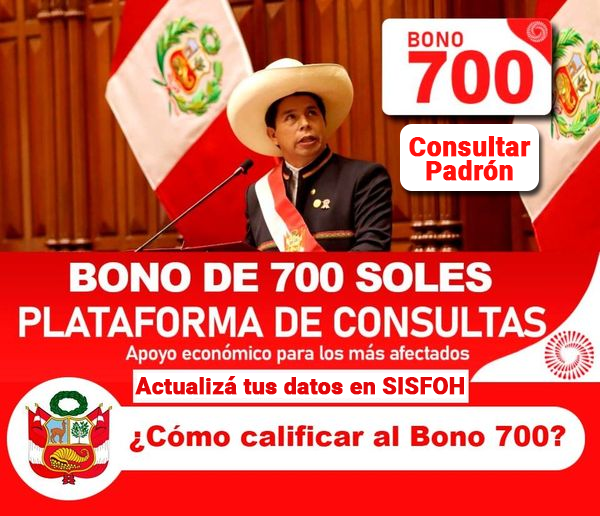 Bono 700 Soles: ¿Cómo Calificar Para Recibir El Subsidio?