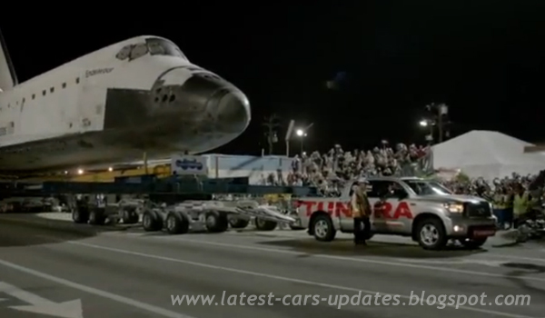 Toyota Tundra Pulls Space Shuttle Endeavor Amazing Video