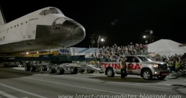 Toyota Tundra pulls Space Shuttle Endeavor: Amazing video ...