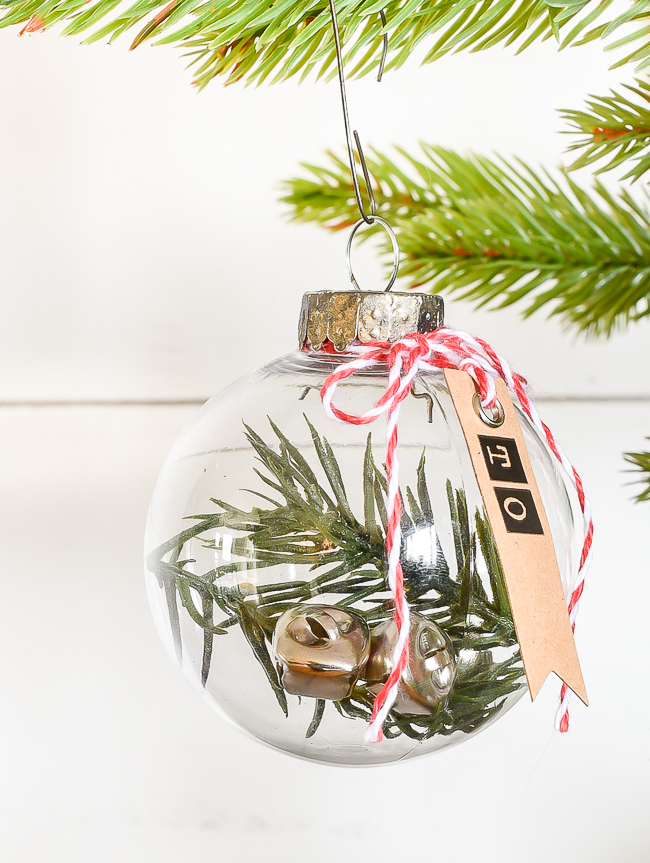 DIY Dollar Tree gift tag ornaments