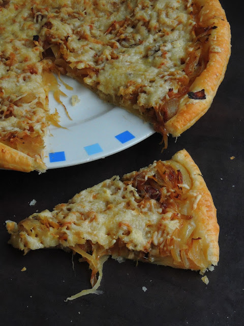 Caramelised Onion Cheese Tart