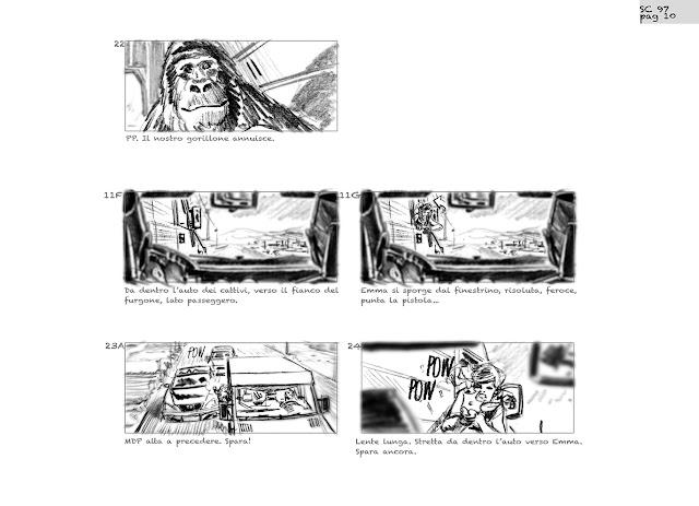 Attenti al gorilla #storyboard