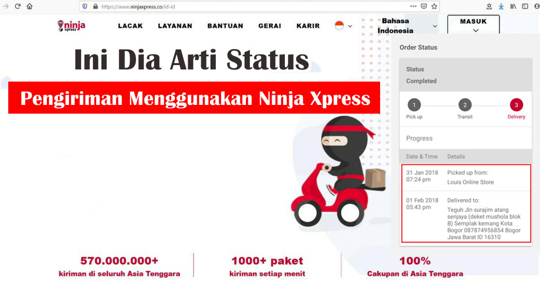 Ini Dia Arti Status Tracking Pada Ninja Xpress Barang Promosi Mug Promosi Payung Promosi Pulpen Promosi Jam Promosi Topi Promosi Tali Nametag