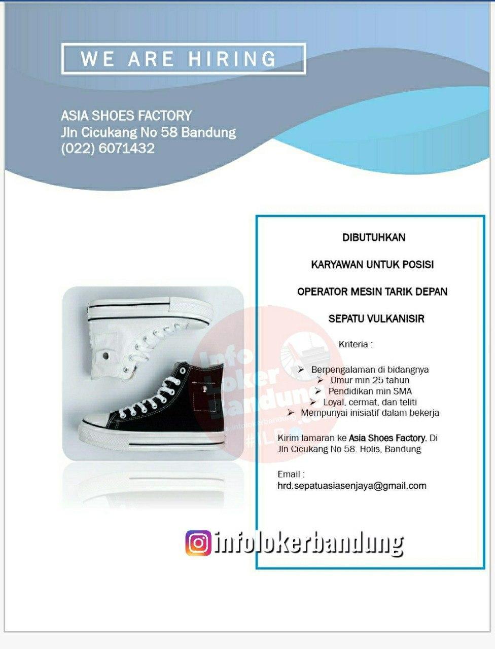 Lowongan Kerja Asia Shoes Factory Bandung September 2020